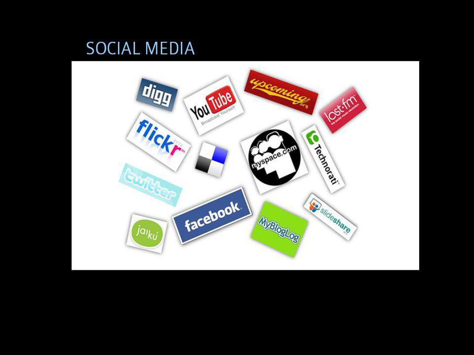 Social medier: Samlingsnamn för platser och tjänster på nätet som för samman människor och låter dem skapa eget innehåll och interagera med varandra.