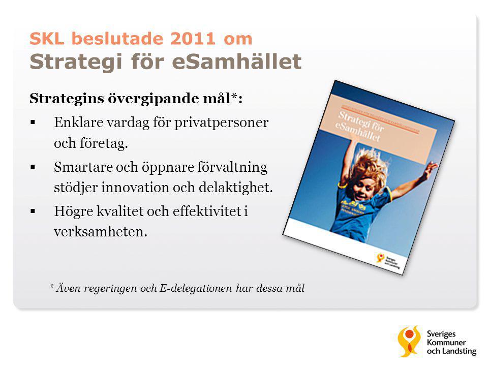 SKL beslutade 2011 om Strategi för eSamhället