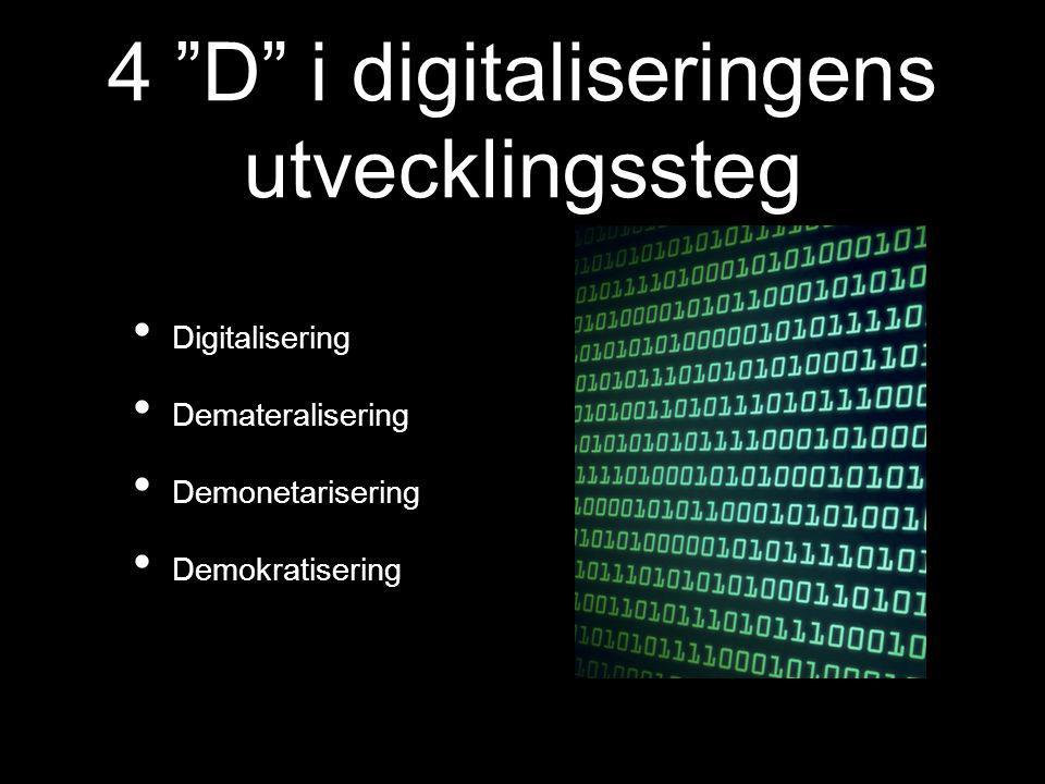 4 D i digitaliseringens utvecklingssteg