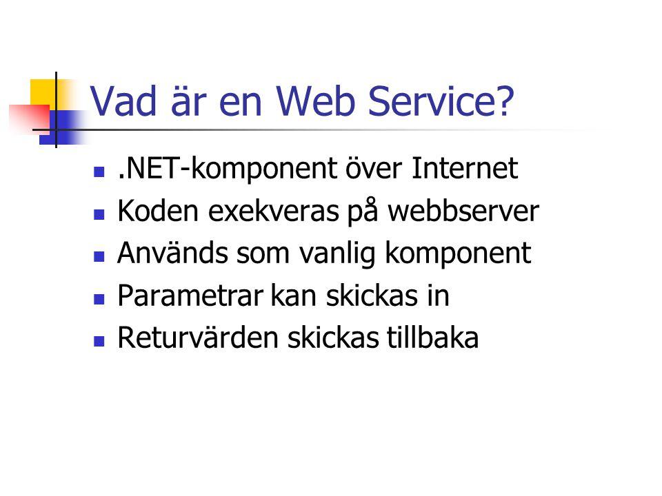 Vad är en Web Service .NET-komponent över Internet