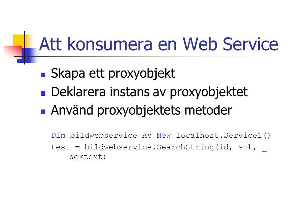 Att konsumera en Web Service