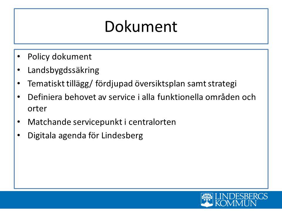 Dokument Policy dokument Landsbygdssäkring