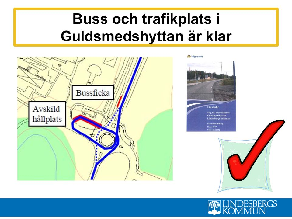 Buss och trafikplats i Guldsmedshyttan är klar