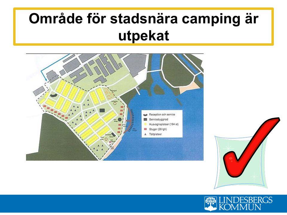 Område för stadsnära camping är utpekat