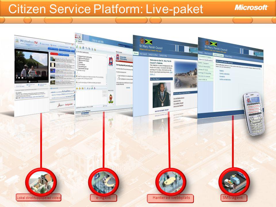 Citizen Service Platform: Live-paket