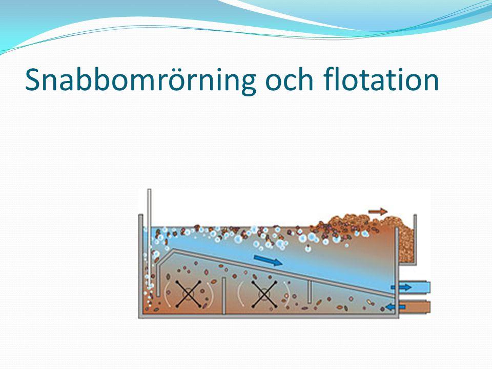 Snabbomrörning och flotation