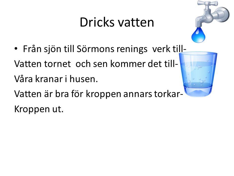 Dricks vatten Från sjön till Sörmons renings verk till-