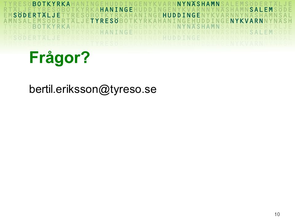 Frågor bertil.eriksson@tyreso.se