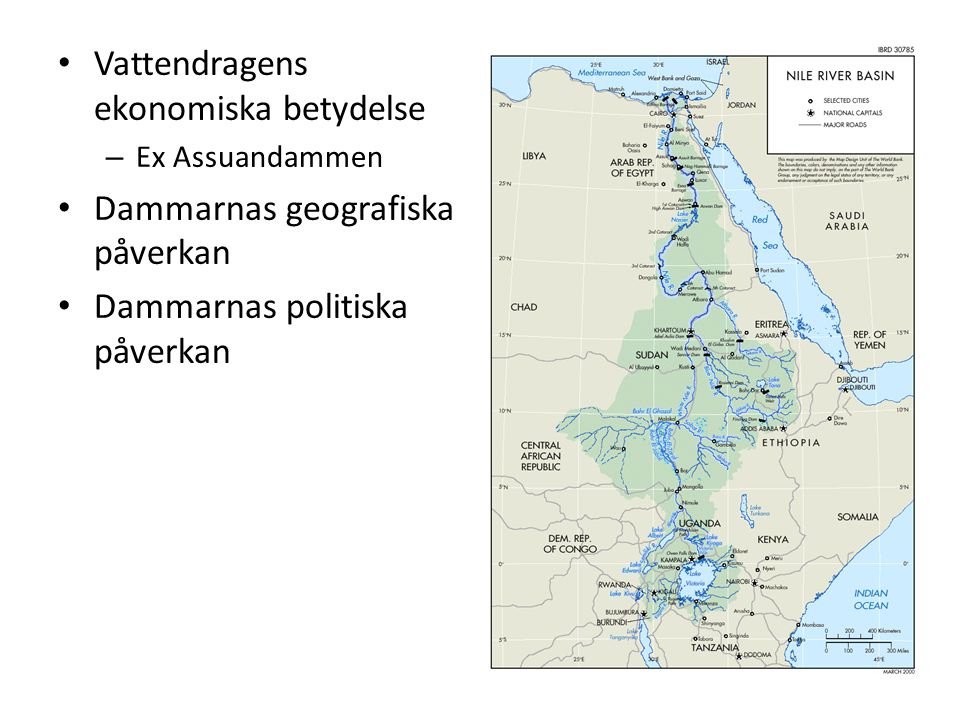 Vattendragens ekonomiska betydelse