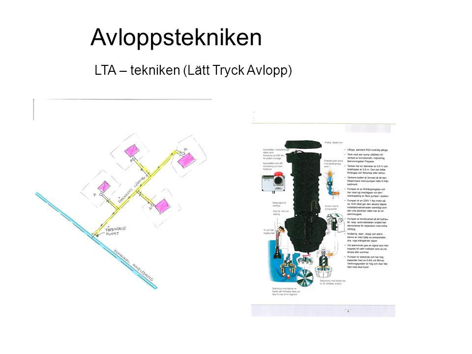 Avloppstekniken LTA – tekniken (Lätt Tryck Avlopp)