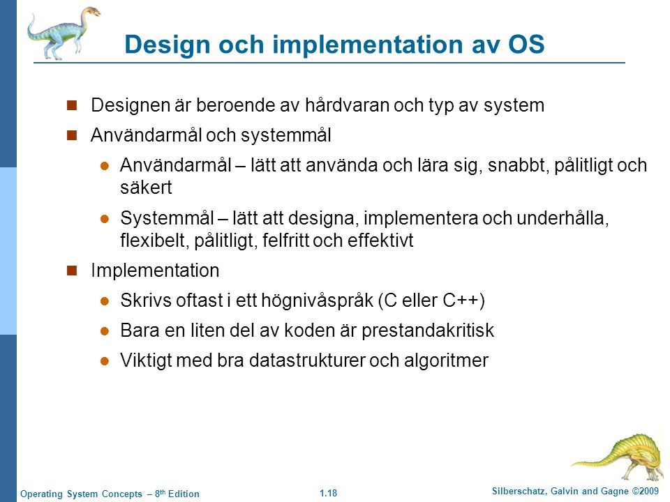 Design och implementation av OS