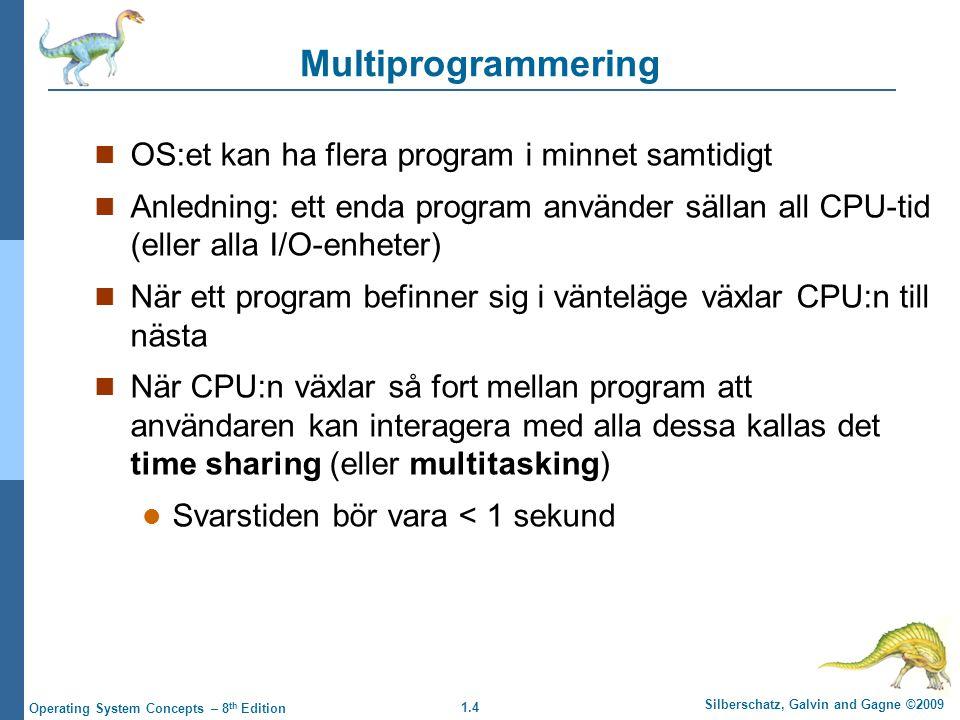 Multiprogrammering OS:et kan ha flera program i minnet samtidigt