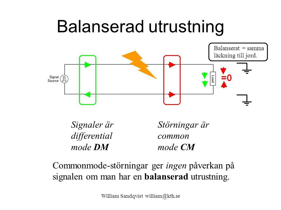 Balanserad utrustning