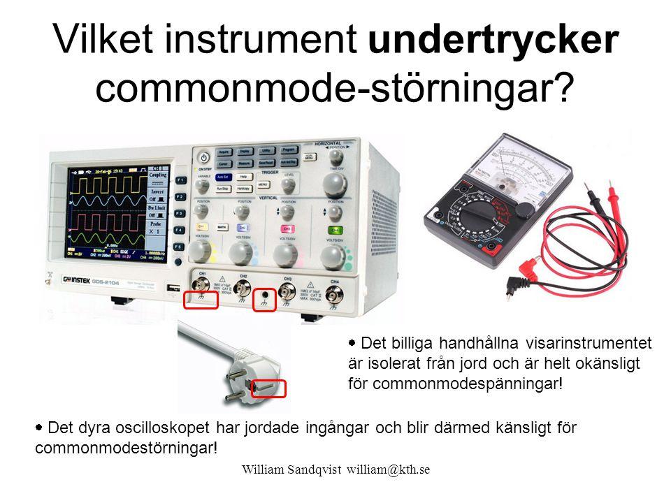 Vilket instrument undertrycker commonmode-störningar