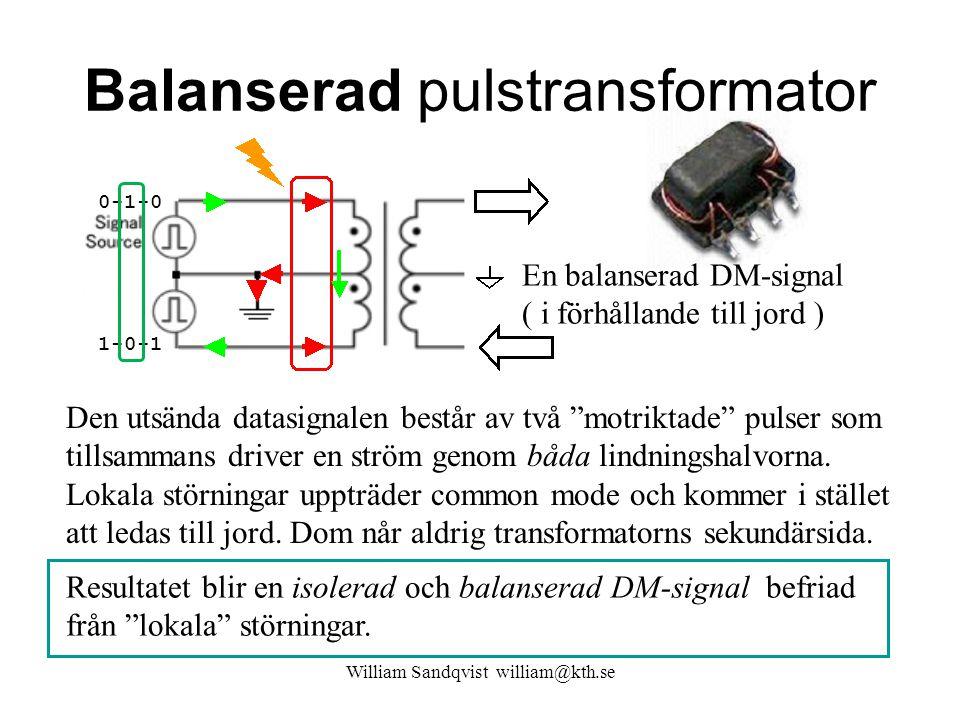 Balanserad pulstransformator