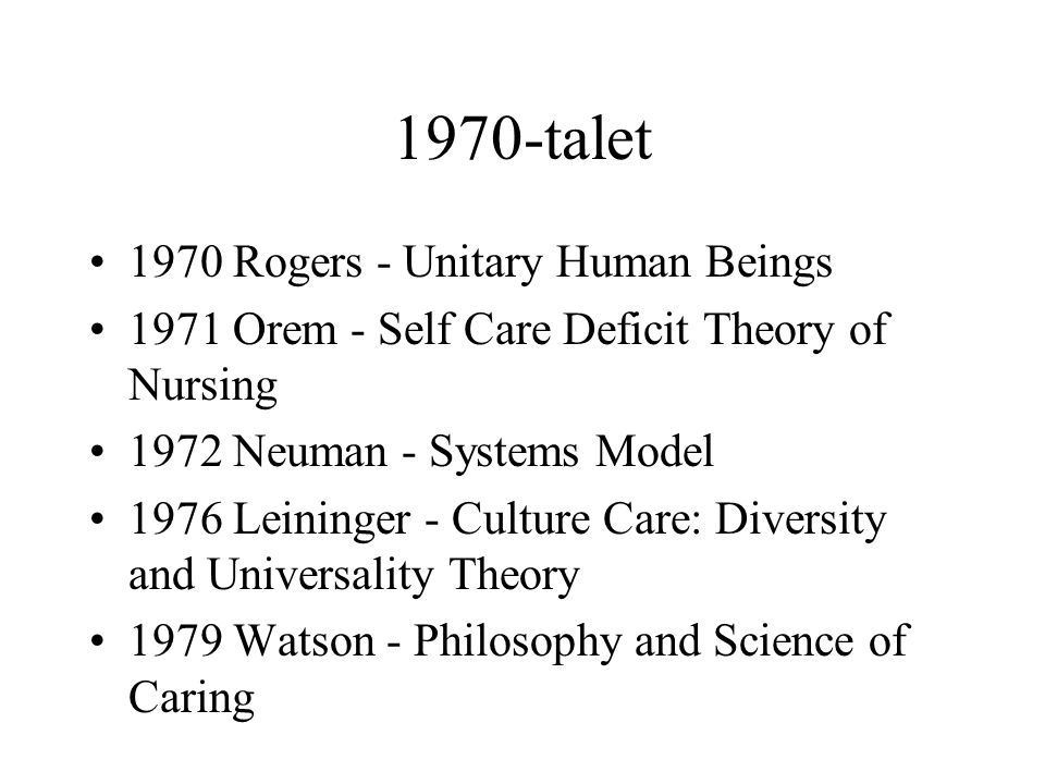 1970-talet 1970 Rogers - Unitary Human Beings