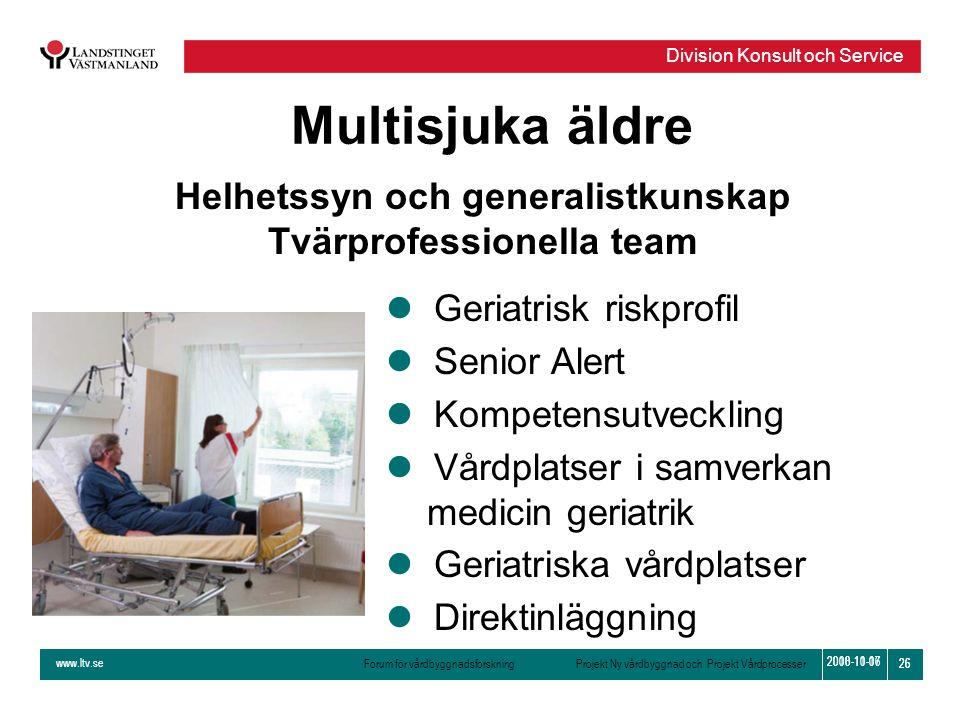 Helhetssyn och generalistkunskap Tvärprofessionella team