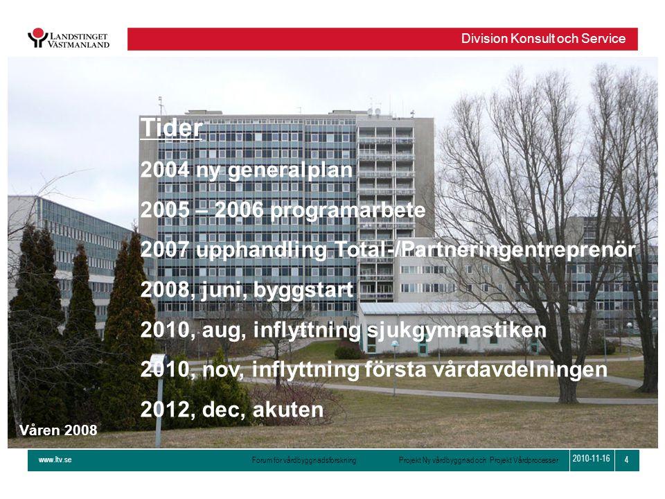 Tider 2004 ny generalplan 2005 – 2006 programarbete