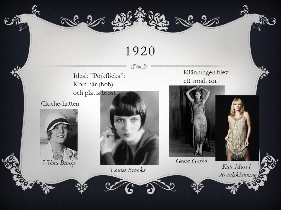 1920 Klänningen blev ett smalt rör
