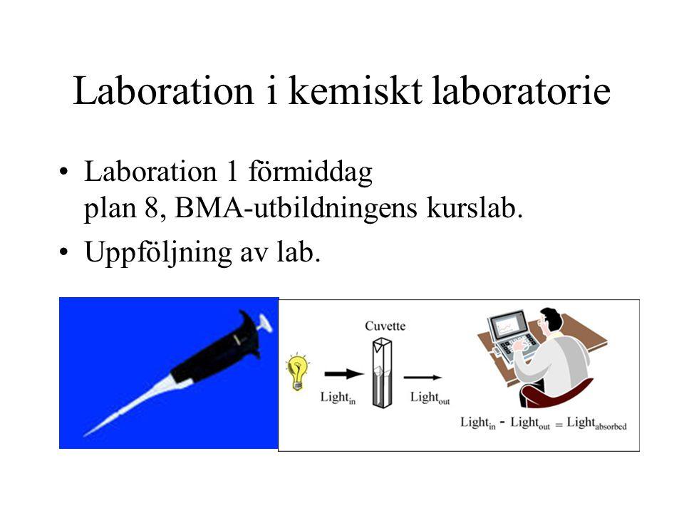 Laboration i kemiskt laboratorie