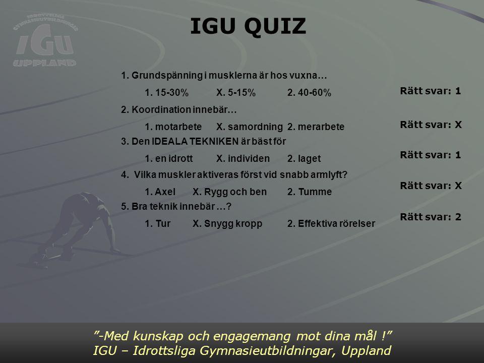 IGU QUIZ Bild 4 -Med kunskap och engagemang mot dina mål !