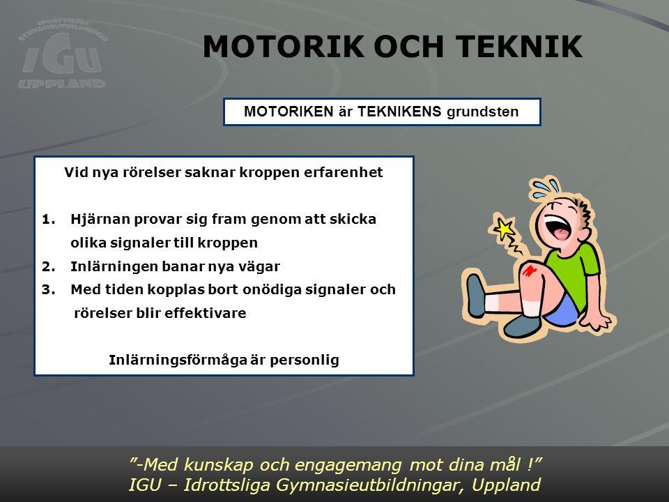 MOTORIK OCH TEKNIK Bild 2 -Med kunskap och engagemang mot dina mål !