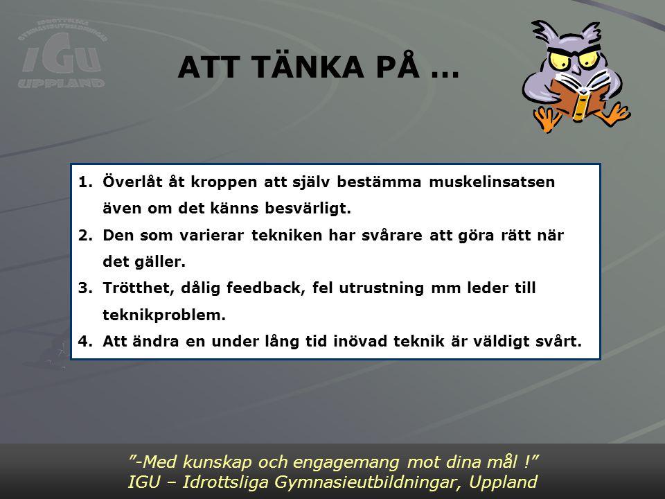ATT TÄNKA PÅ … Bild 2 -Med kunskap och engagemang mot dina mål !