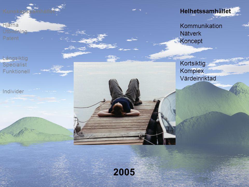2005 Helhetssamhället Kommunikation Nätverk Koncept Kortsiktig Komplex