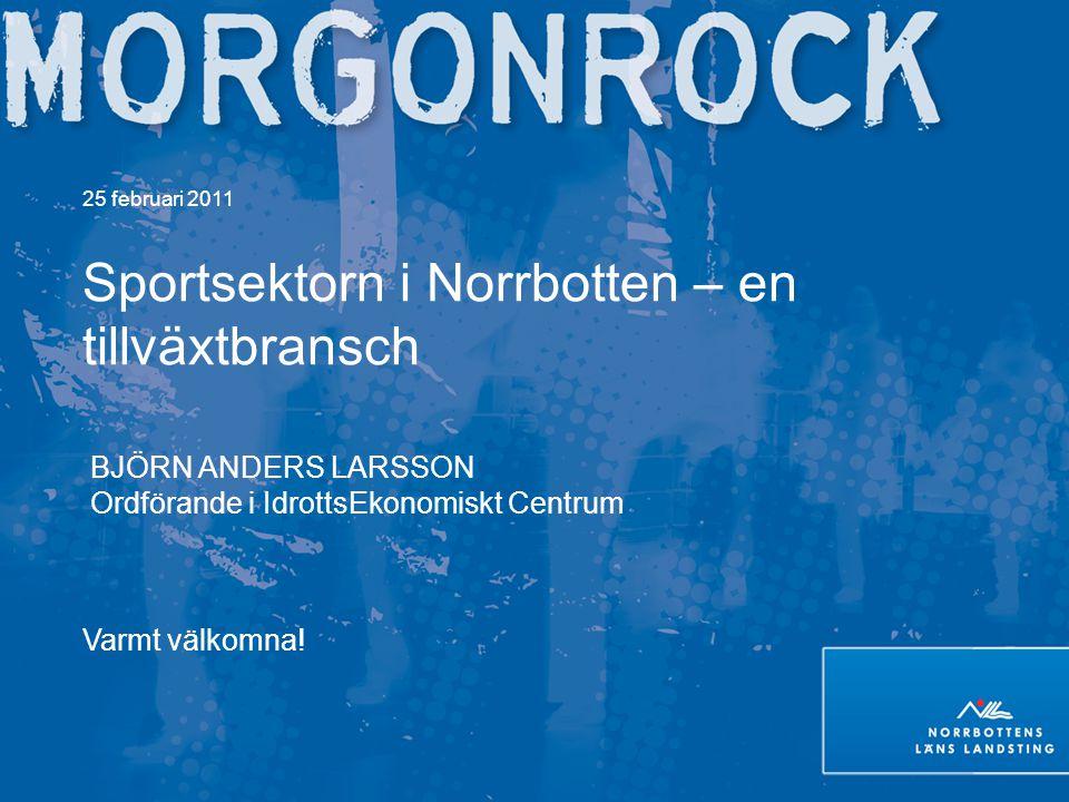 Sportsektorn i Norrbotten – en tillväxtbransch