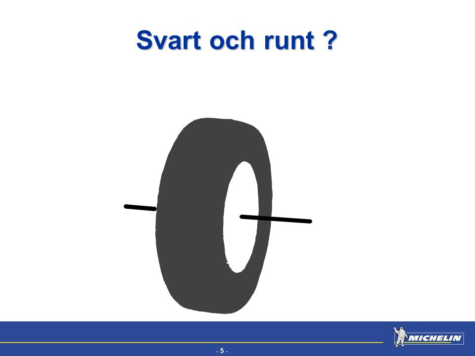 Svart och runt Well what is a tyre, if it's not a box of air