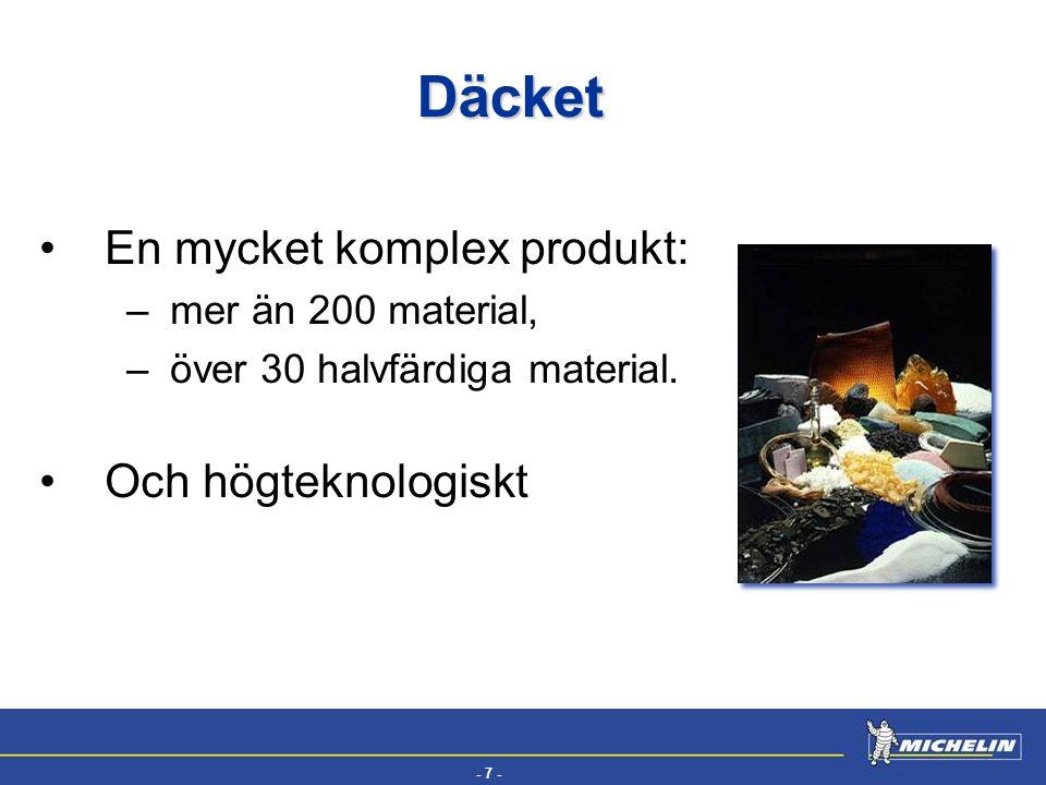 Däcket En mycket komplex produkt: Och högteknologiskt