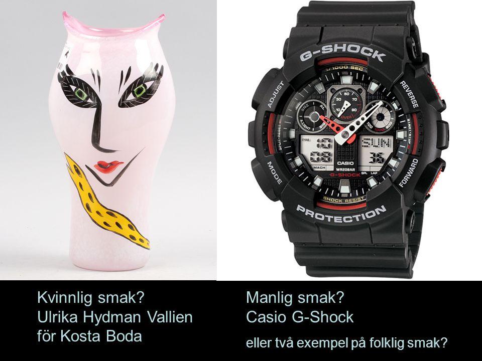 Ulrika Hydman Vallien för Kosta Boda Manlig smak Casio G-Shock
