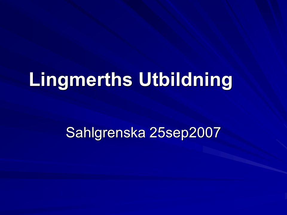 Lingmerths Utbildning