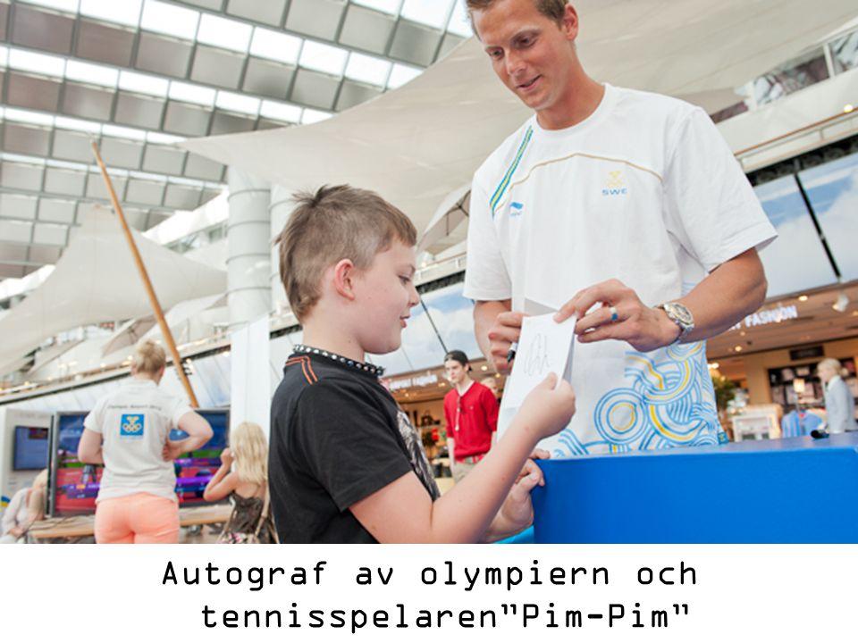 Autograf av olympiern och tennisspelaren Pim-Pim