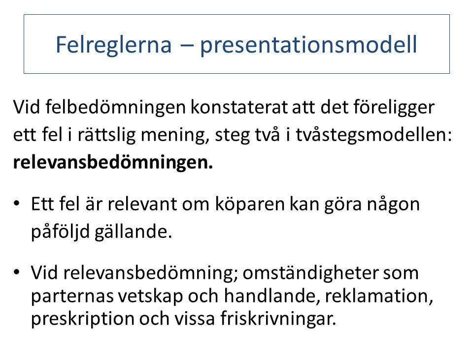 Felreglerna – presentationsmodell