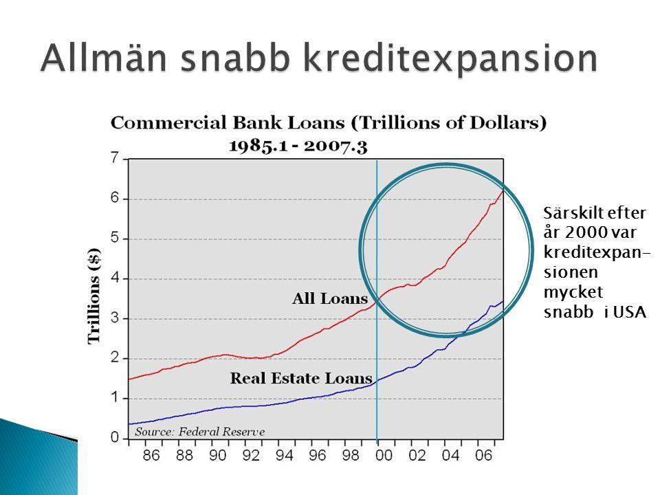 Allmän snabb kreditexpansion