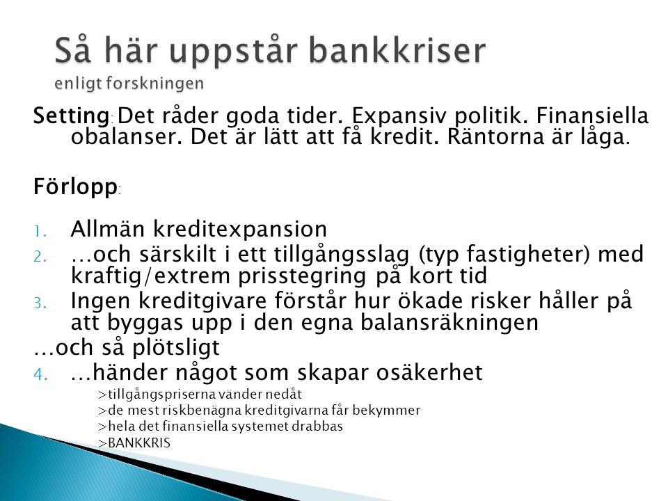 Så här uppstår bankkriser enligt forskningen