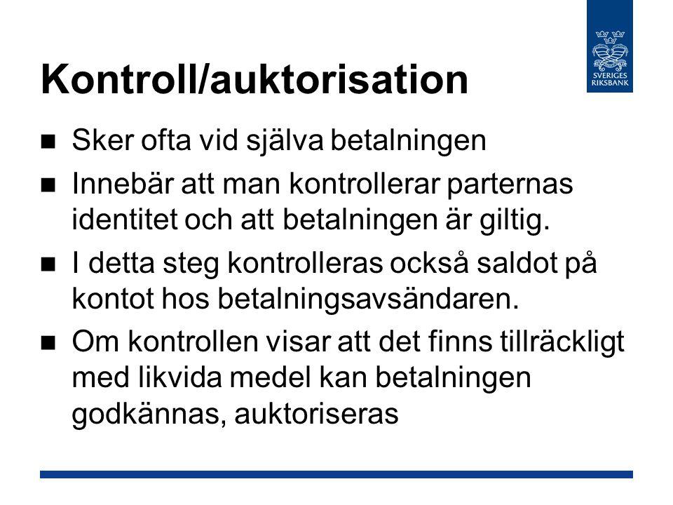 Kontroll/auktorisation