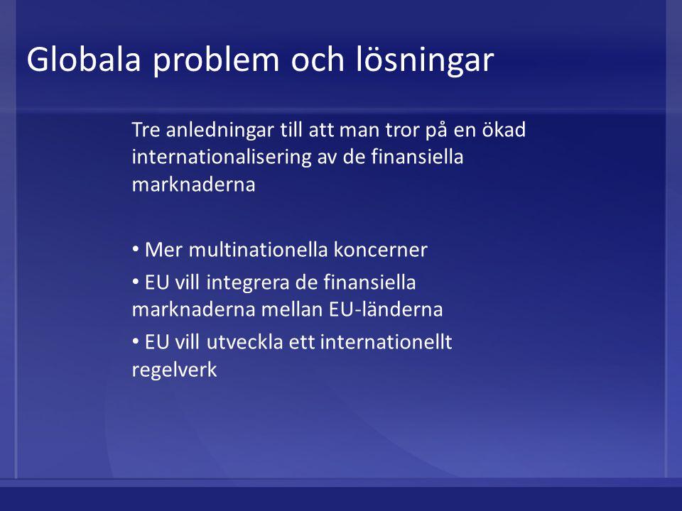 Globala problem och lösningar