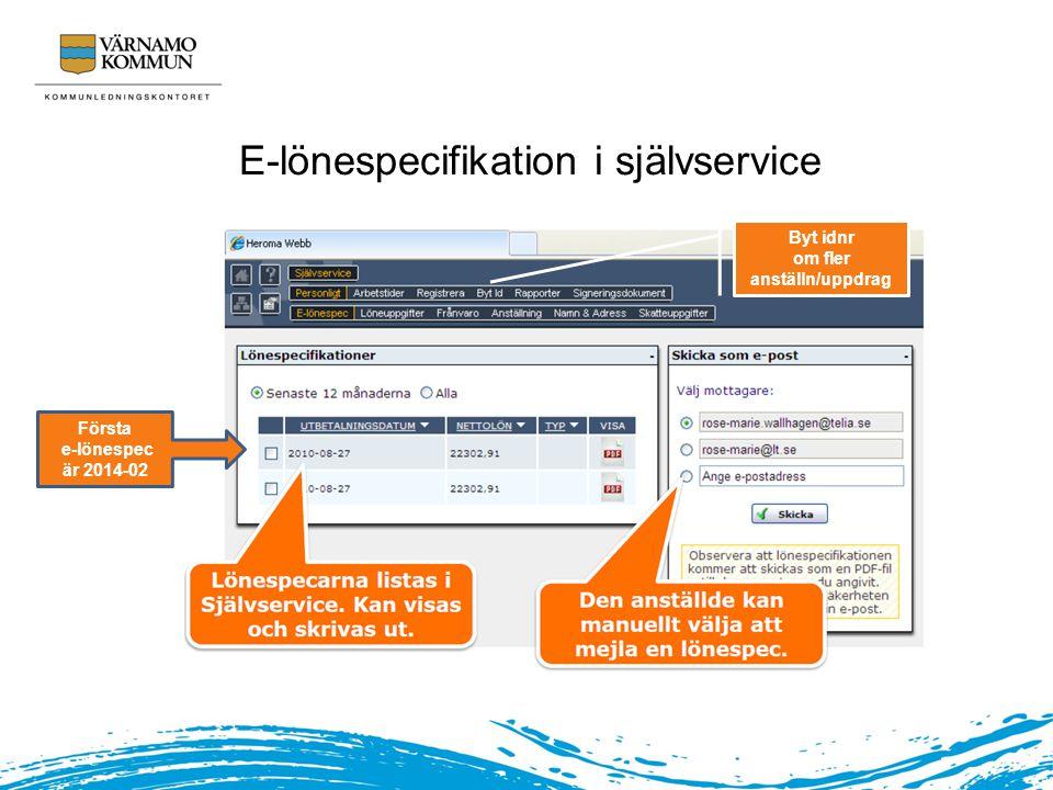 E-lönespecifikation i självservice