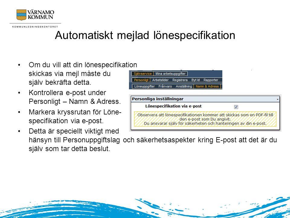 Automatiskt mejlad lönespecifikation