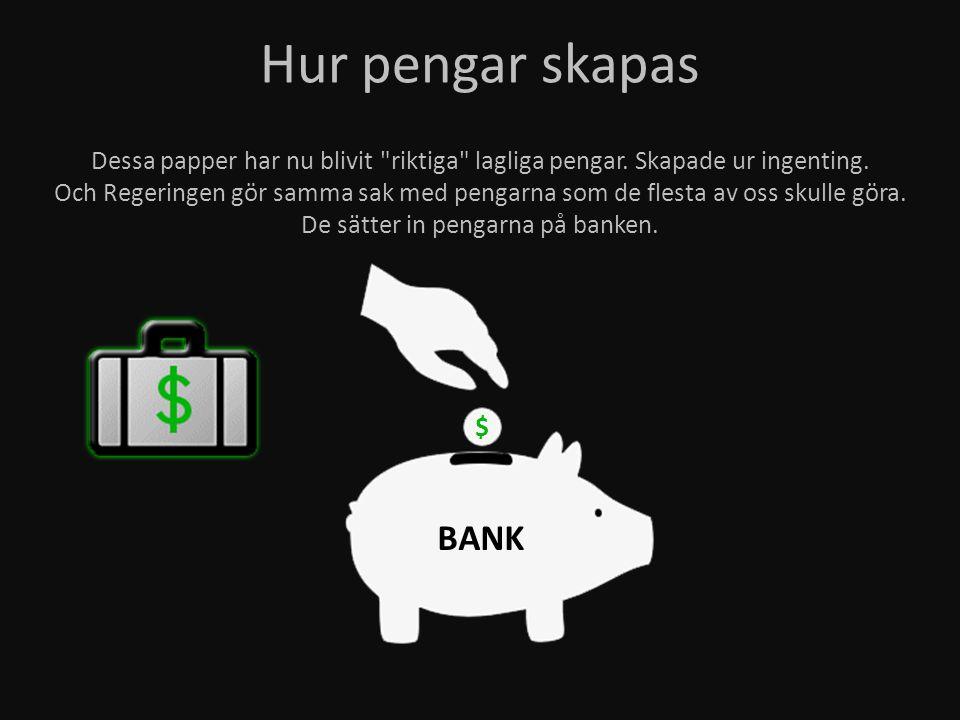 Hur pengar skapas BANK $