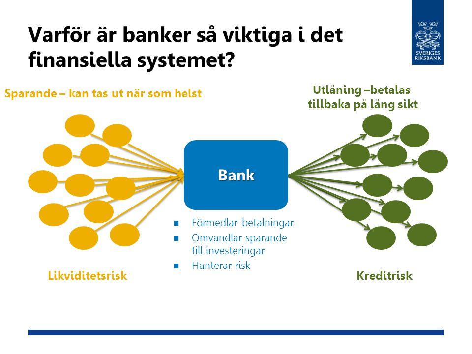 Varför är banker så viktiga i det finansiella systemet
