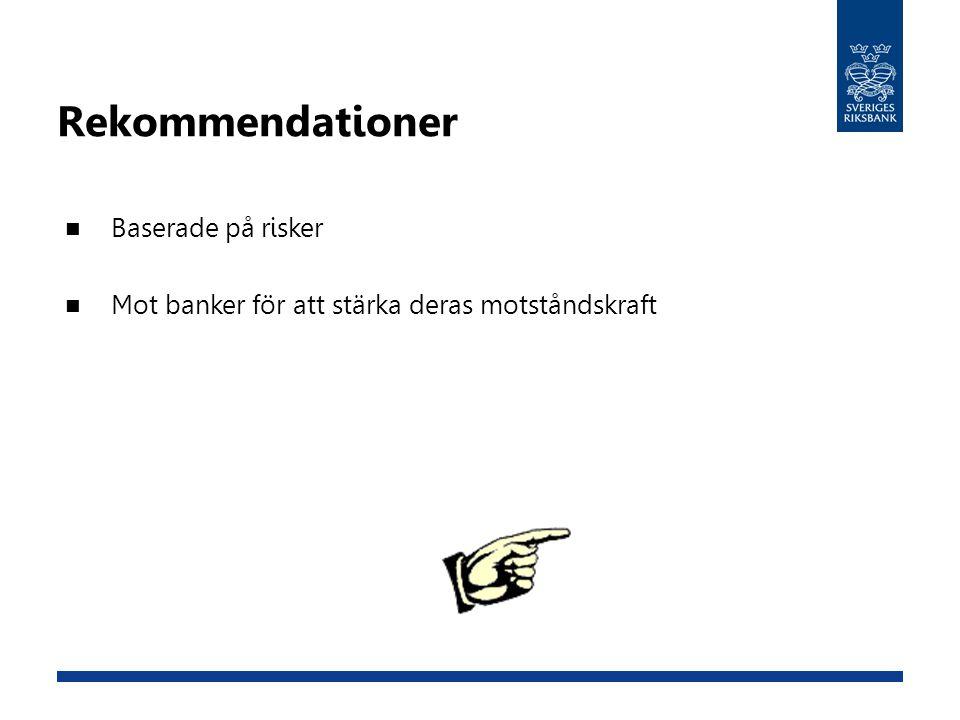 Rekommendationer Baserade på risker