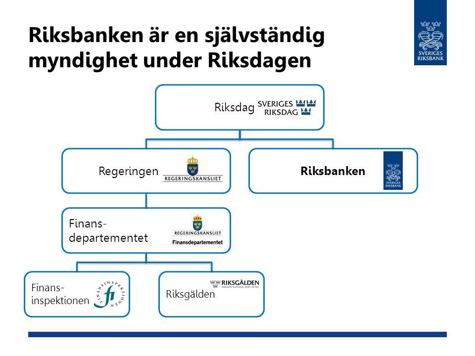 Riksbanken är en självständig myndighet under Riksdagen