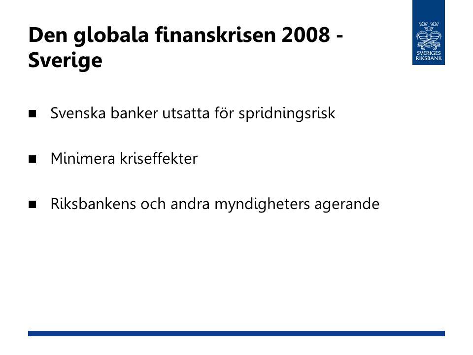 Den globala finanskrisen 2008 - Sverige