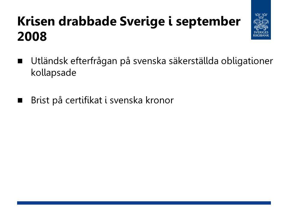 Krisen drabbade Sverige i september 2008