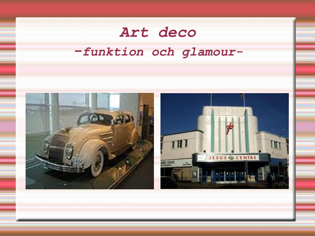 Art deco -funktion och glamour-