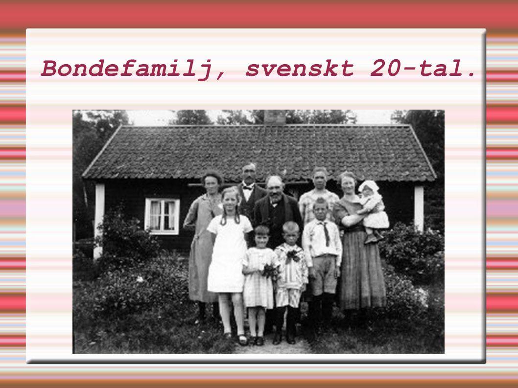 Bondefamilj, svenskt 20-tal.