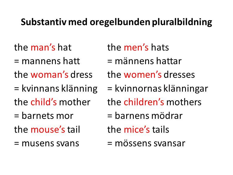 Substantiv med oregelbunden pluralbildning